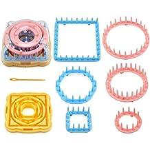 9 piezas de flores para tejer, flores, tela, kits de lana para hacer