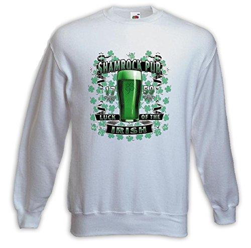 Irish Pub Pull Shamrock blanc Pub Cloverleaf Irisch Bière Beer Ireland Blanc
