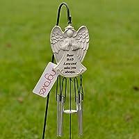 Dear Dad Guardian Angel Love & Miss You Graveside Memorial Wind Chime