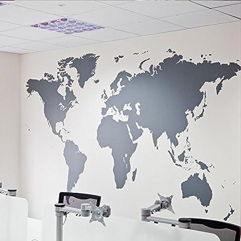 La Maison Et Le Monde - iiSport-Sticker mural la carte du monde autocollant