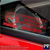5X Ppmazdagpsred GPS Rouge appareil de suivi Sécurité pour fenêtres Stickers 87x Installed on This Vehicle, van Alarme tracker