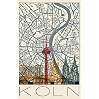 Köln Altstadt Dom Kunstdruck Poster ungerahmt Bild DIN A4 A3 K0506