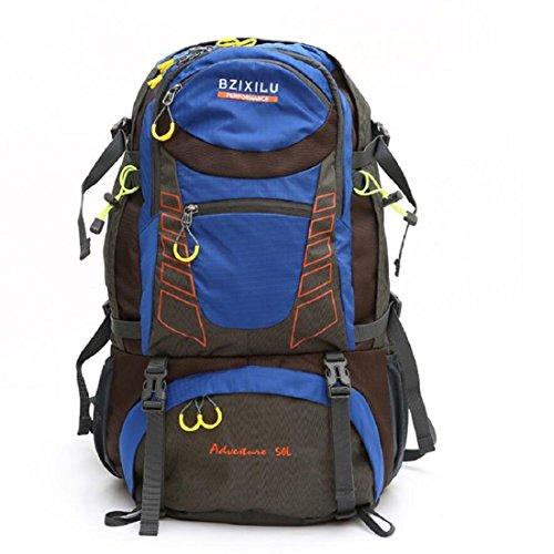 Z&N 50L GroßE KapazitäT Outdoor Sport Rucksack Wasserdichte Hochwertige Nylon-Bergsteigen Tasche Reise GepäCk Tasche Schultergurt Einstellbar SchüLer Tasche A