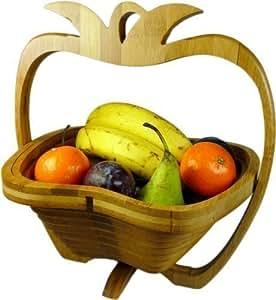 corbeille pliante en bambous corbeille fruits pour d coration en bois 3 pommes. Black Bedroom Furniture Sets. Home Design Ideas