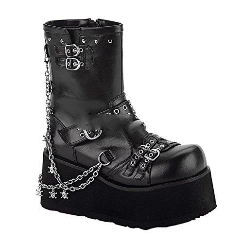 Demonia Clash-430 - Gothic Punk Industrial Plateau Stiefel 36-43, Größe:EU-36 / US-6 / UK-3