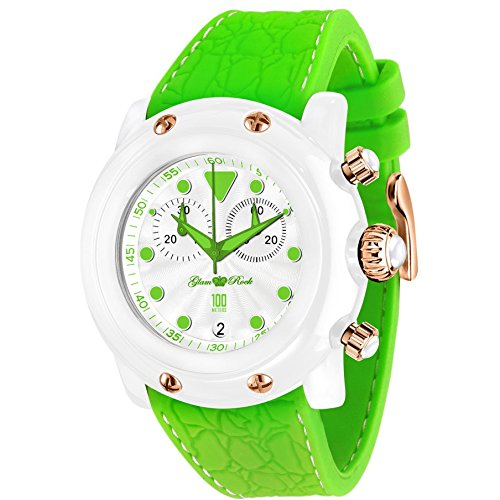 Glam Rock Miami Beach Men's & Women's 46mm Chronograph Plastic Case Watch GR2512