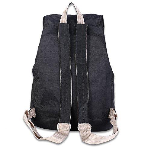 L'école minimaliste du vent capacité Uni sac à dos/ femme de couleur unie-pourpre Noir