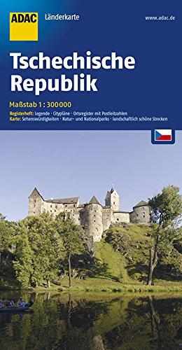 ADAC Länderkarte Tschechische Republik 1:300.000 (ADAC Länderkarten) -