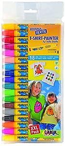 Kreul 9072, Javana, 18 marcadores de diferentes colores con ancho de línea 2-4 mm