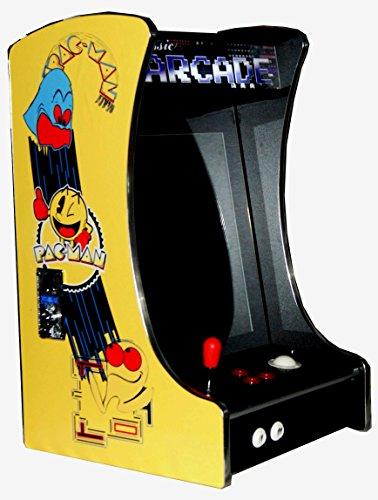 US-Way e.K. Pac-Man Arcade G-288 - Macchinetta per Videogiochi, 412 Giochi