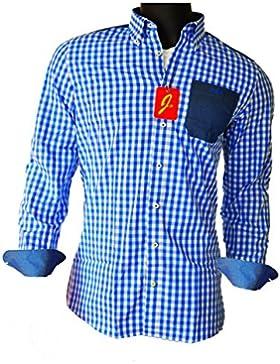 JayPee Herren Hemd in Modern Slim Fit aus 100% Baumwolle Kariert - JP Shirt