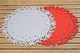 Tischset Filz Platzset Platzmatte Untersetzer rund Stern rot oder grau Ø 44 cm Stückpreis