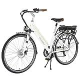 Onway 26 Zoll 7-Gang Frauen-Stadt-elektrisches Fahrrad, 36V 250W Aluminium-Legierung E-Fahrrad mit Pedal Assist und Torsion-Drossel