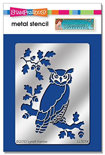 Unbekannt Stampendous dwll3014Dreamweaver Schablone, Eule auf Eiche