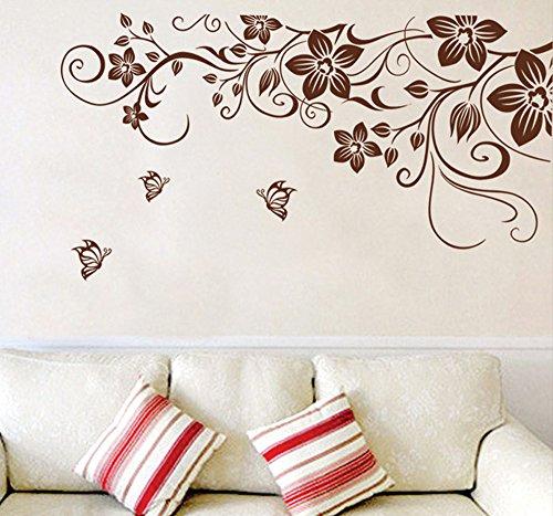 ufengke® bella vite fiori e farfalle adesivi murali, camera da ... - Stickers Murali Camera Da Letto
