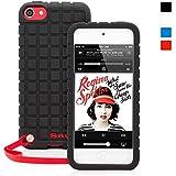 Coque iPod Touch 5 / 6, Snugg™ - Étui Noir Antidérapant En Silicone Avec Garantie À Vie Pour Apple iPod Touch 5e et 6e Générations