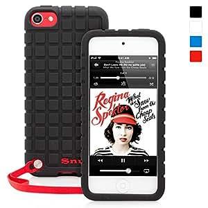 Snugg Custodia Qualità Per iPod Touch (5°/6° Generazione) In Silicone Nero - Ultra Protezione, Materiale Antiscivolo e Leggerissima - Garanzia A Vita