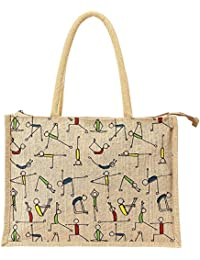 Hydes Yoga Jute Bag,Shopping Bag,Eco Friendly Bag 13x16x5 {LxWxH}