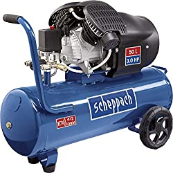 Scheppach compressor HC53DC (2200 Watt, 50 L, 10 bar, suction power 412L / min, pressure reducer, oil lubricated, double cylinder)