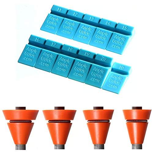 Wedgek Messerschleifhilfen, Blau zum Schärfen, Orange für die tägliche Pflege