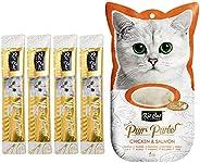 Kit-Cat Purr Puree Chicken & Salmon Wet Cat Treat Tubes 4