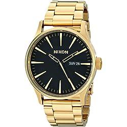 Nixon Herren-Armbanduhr XL Analog Quarz Edelstahl beschichtet A356510-00