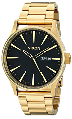 Nixon Herrenuhr Analog Quarz mit Edelstahlarmband – A356510-00 (Nixon Uhren Herren Sentry)