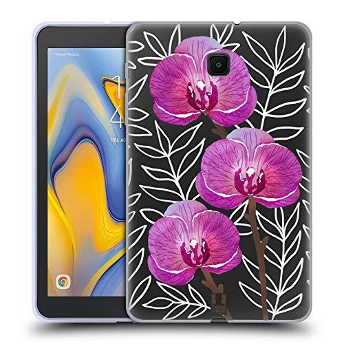 Head Case Designs Orchideen Aquarell Und Blumen 2 Soft Gel Huelle kompatibel mit Galaxy Tab A 8.0 (2018) -