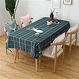 LUOTINGRUI Nordic Baumwolle und Leinen Tischdecke Stoff Couchtisch Tischdecke wasserdicht Anti-Verbrühungs-Öl-Beweis Wohnzimmer Tischdecke
