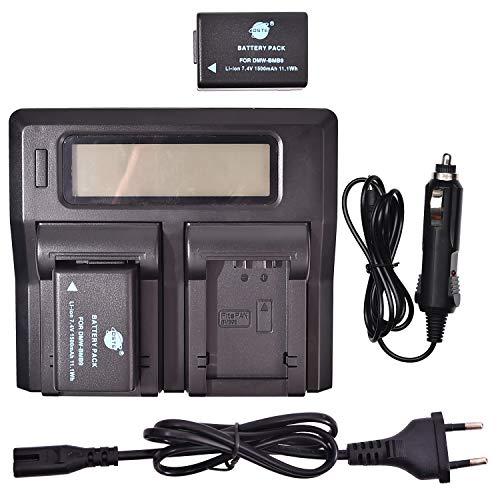DSTE® 2 Pack Ersatz Batterie DMW-BMB9E + LCD Dual Ladegerät Compatible für Panasonic DMW-BMB9,Lumix DMC-FZ48,DMC-FZ60,DMC-FZ62,DMC-FZ70,DMC-FZ72,DMC-FZ100,DMC-FZ150,V-Lux2,V-Lux3,Leica BP-DC9 Kamera