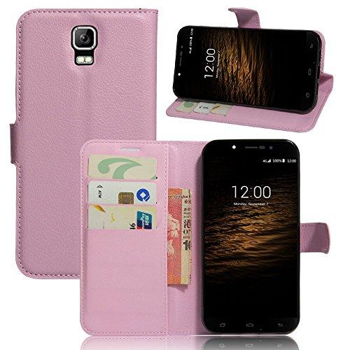 Tasche für UMI Rome / Rome X Hülle, Ycloud PU Ledertasche Flip Cover Wallet Case Handyhülle mit Stand Function Credit Card Slots Bookstyle Purse Design rosa