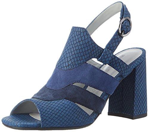 GERRY WEBER Tatjana 04, Sandales  Bout ouvert femme Blau (blau-kombi)
