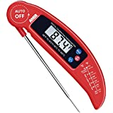 Amir Food Thermometer, Digital Instant Read Candy/ Meat Thermometer with Probe for Kitchen Cooking, BBQ, Poultry, Grill, Foldable, Fast & Auto On/ Off