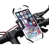 Soporte del Teléfono Móvil de Coche, Bicicleta - Kasos Universal Sostenedor de Giro Rotación 360 grados para motocicleta , bici para Smartphone y GPS Dispositivo