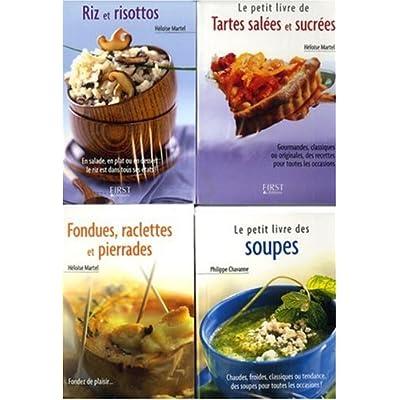 Le petit coffret Cuisine d'hiver ! : Pack en 4 volumes : Fondues, raclettes et pierrades ; Tartes salées et sucrées ; Riz et risottos ; Le petit livre des soupes