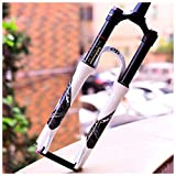 zyy Suspension Fork, Damping Wire Control 26/27.5/29 Inch Straight For Mountain Bicycle Clarinet