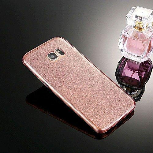 Galaxy S8 Plus Hülle,Galaxy S8 Plus Silikon Hülle,JAWSEU Schutzhülle Samsung Galaxy S8 Plus Hülle [Glitzer Strass Ring Stand Holder], Luxus Glitzer Bling Diamant Strass Spiegel TPU Case für Samsung Ga Rosa