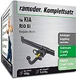 Rameder Komplettsatz, Anhängerkupplung abnehmbar + 13pol Elektrik für KIA Rio III (114375-09697-1)