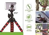 Eurosell Premium Line Tripod 1 - 28cm Kamerastativ Kamera Stativ Tripod Flexibel - Flexibles Dreibein für DSLR Actioncam GoPro Digitalkamera - Fotostativ Videostativ - Profi Qualität - Wasserwaage