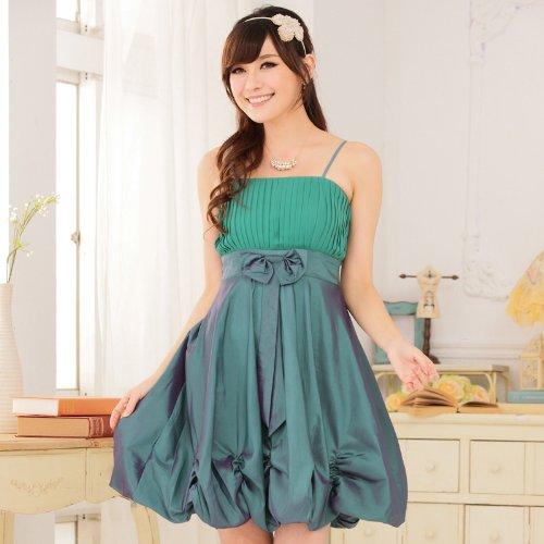 VIP Dress Abito da sera con gonna a palloncino in verde, nero e rosa Verde