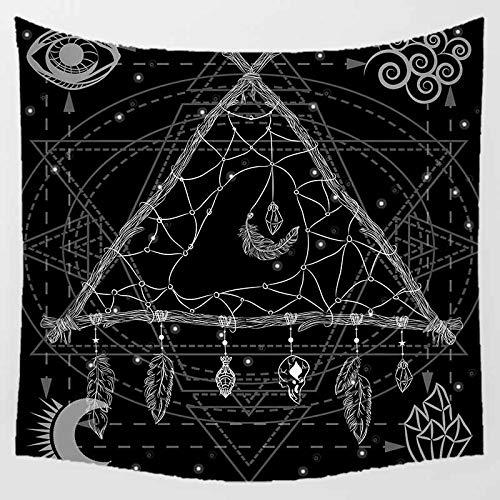 Tapiz de Pared para Colgar en la Pared Talla Grande Tapestry India Hippie Triángulo atrapasueños Bohemio Toalla de Playa Dormitorio Decoración del Hogar H4731,Franela Gruesa,150x100cm