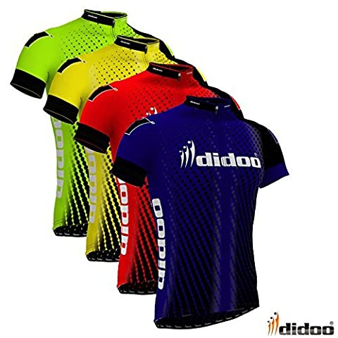 Didoo New Men's Cycling Jersey Top Quality Team Biking Racing Half Sleeve T-Shirt XXL Green