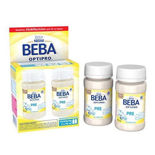 Nestlé BEBA Optipro Pre, trinkfertig, Portionsflaschen, 6er Pack 6 x (2 x 90 ml)