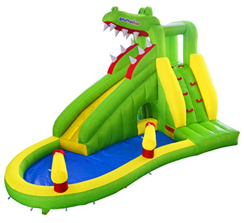 Bounceland Crocodile Creek 15ft Bouncy Castle Inflatable Water Slide with Fan