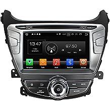 Kunfine Android 8.0 Octa Core Coche DVD GPS Navegación Multimedia Reproductor Coche Estéreo para Hyundai Elantra