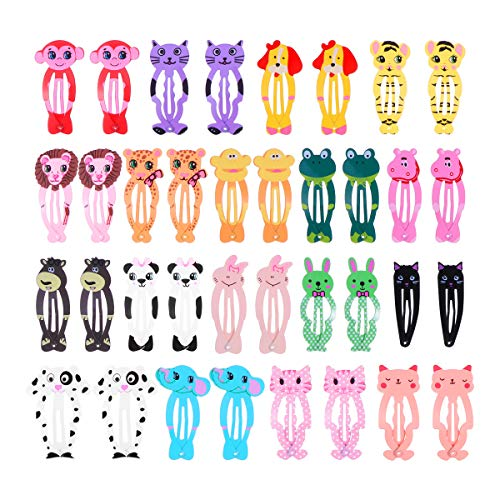 Lurrose Animal Snap Hair Clips Niedliche Tier Haarspangen BB Head Clips für Baby Kids 18 ()
