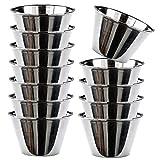 MGE - Individuelle Puddingform - Förmchen für Pudding, Muffins, Cupcakes - Edelstahl - Set mit 12 Stück - Durchmesser 8 cm