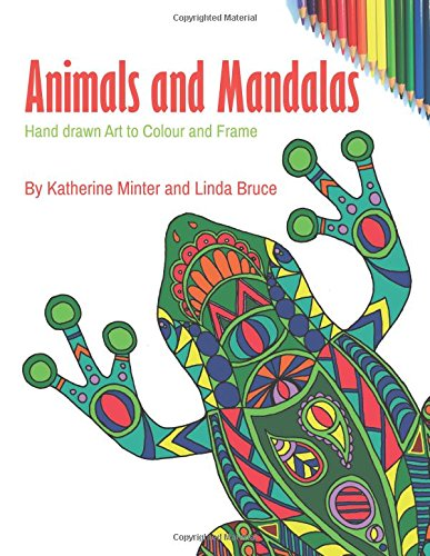 Animals and Mandalas: Hand drawn art to colour and frame por Katherine Minter
