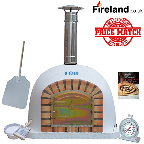 Brick Outdoor Wood Fired Pizza Oven 100 cm Package