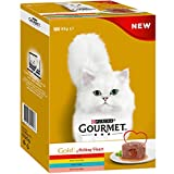 Gourmet Gold Melting Heart Cat Food, Meat & Fish Multipack, 48 x 85g